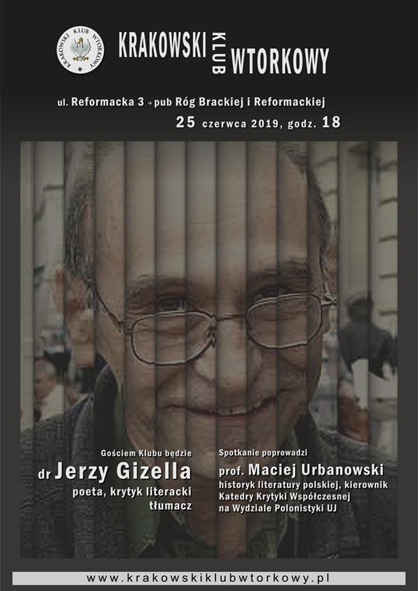 Gościem Klubu będzie dr Jerzy Gizella